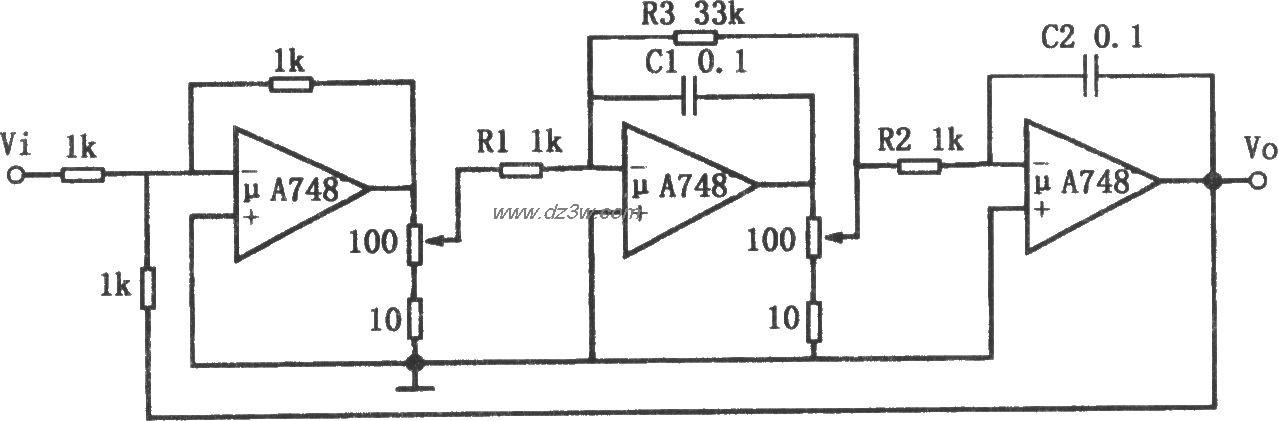 频率可调的带通滤波器(μ