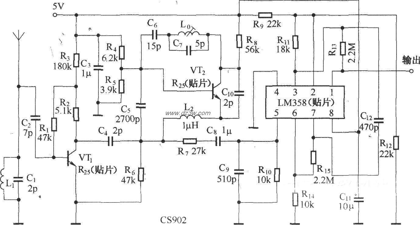 超再生接收组件CS902(与