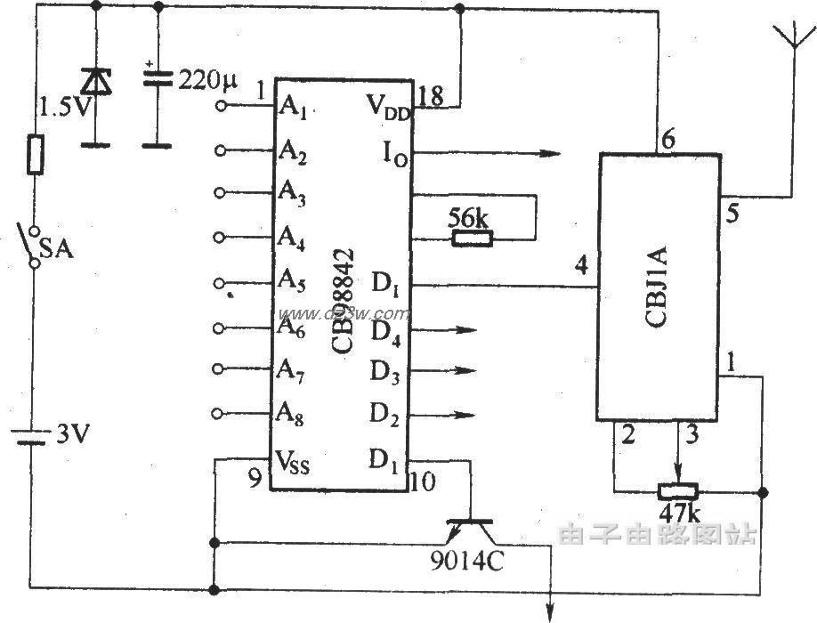 SB-50ALRX接收机的电路原