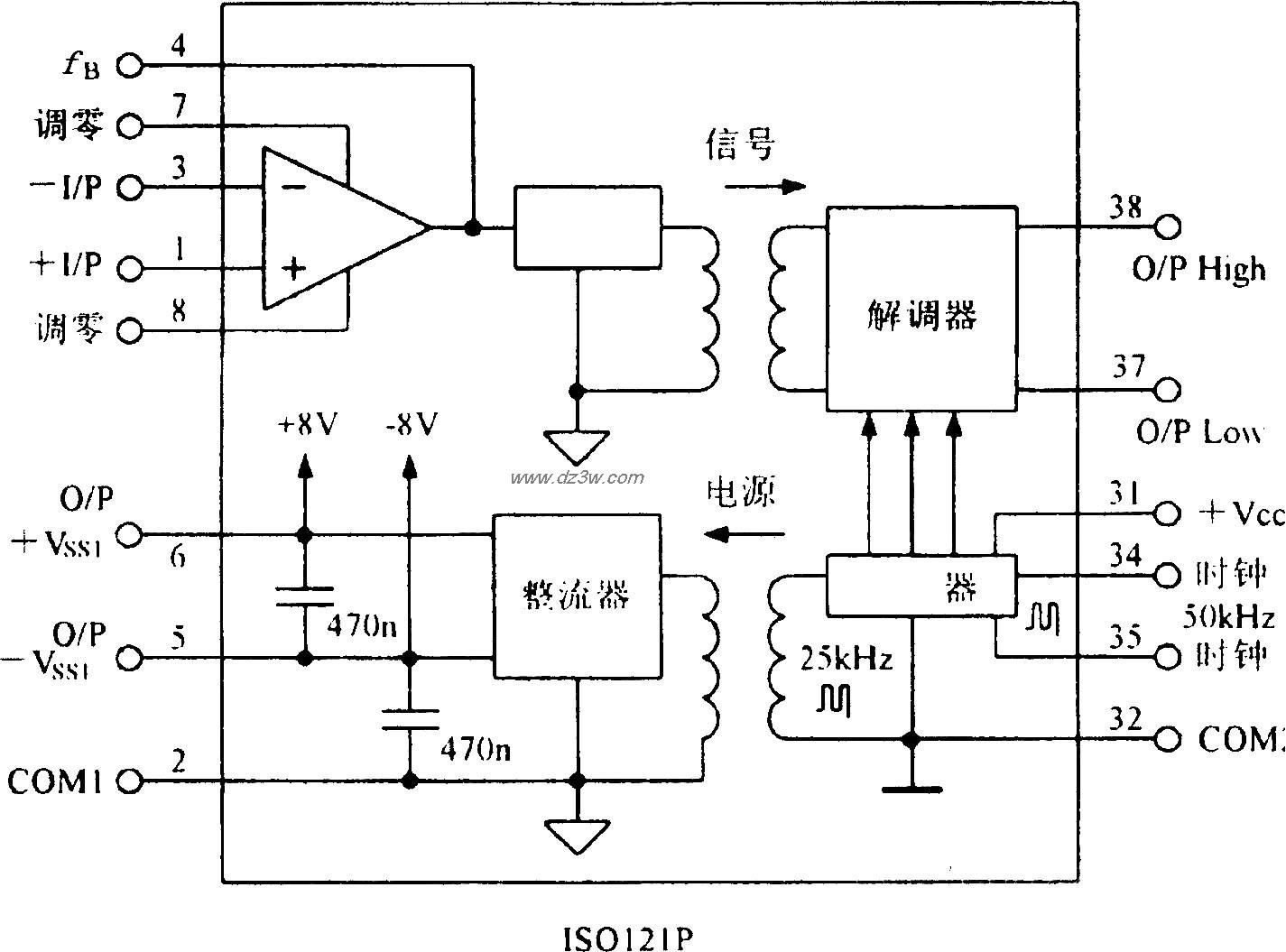小型化隔离放大器IS0212