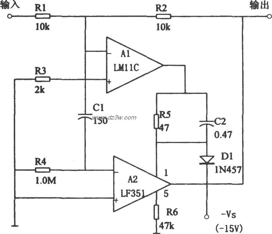 高精度低偏置电流跟随器