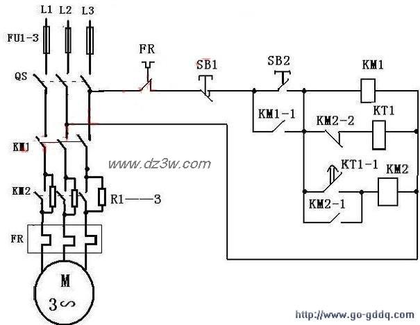 笼型电动机定子串联电阻
