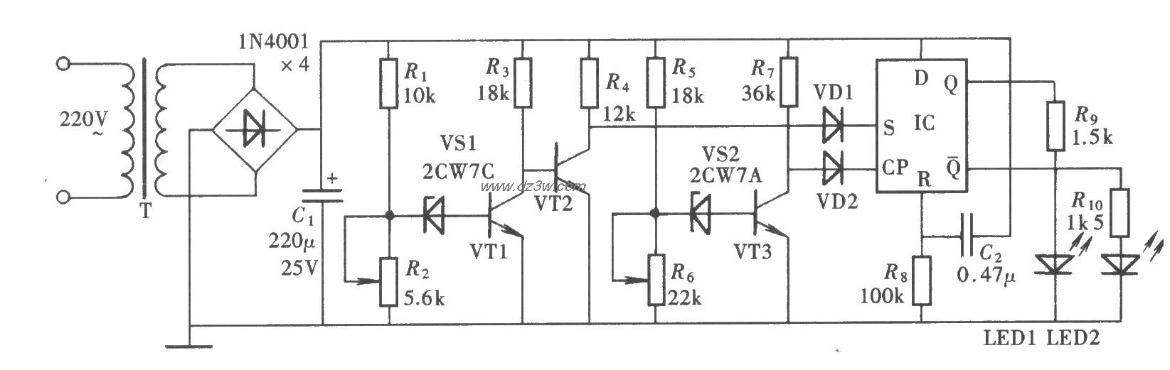 交流电源过、欠电压检测