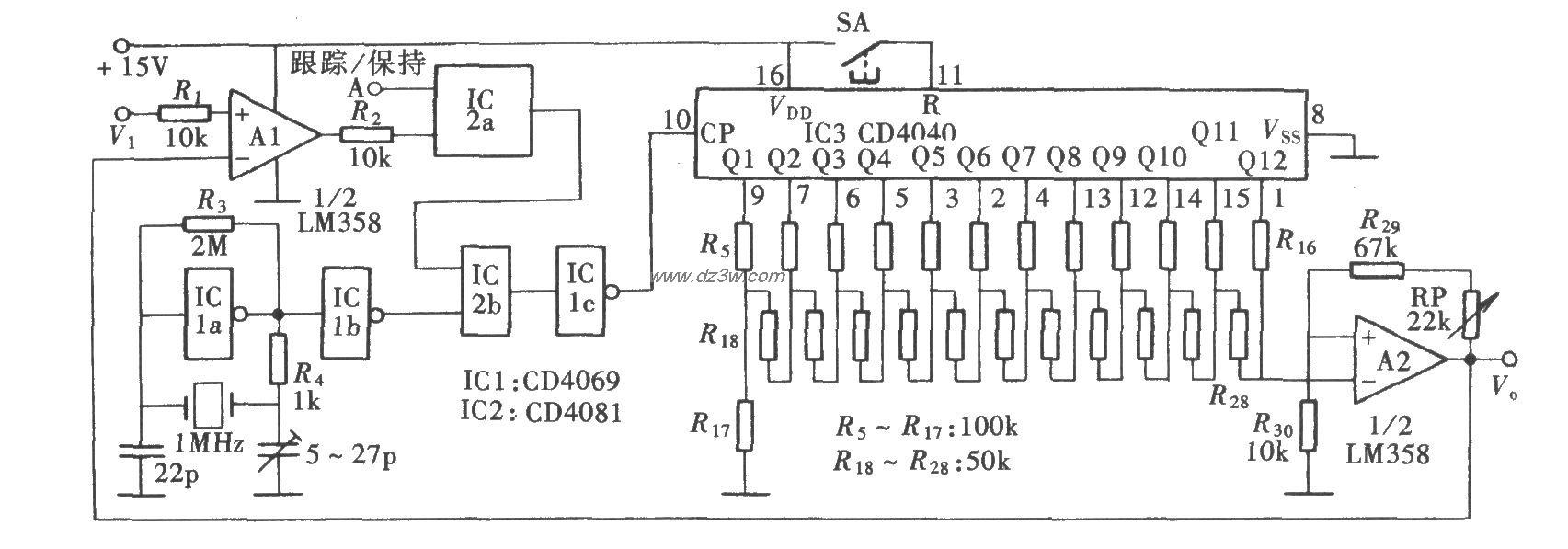 计数式峰值保持电路(CD4