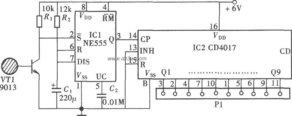 MOC3061组成的热线开关电