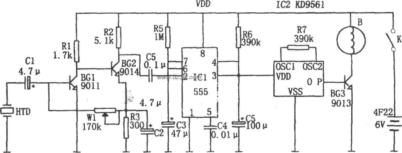 555构成的机电一体化自行