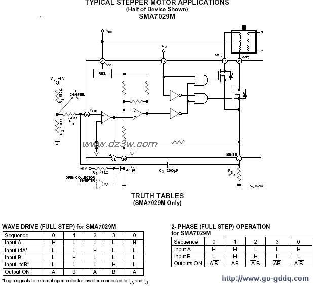 SMA7029构成的步进电机驱