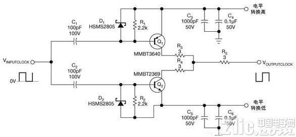 简单的电平转换电路图