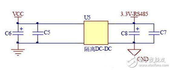 3.3V供电的RS485接口远距离数据通信电路设计