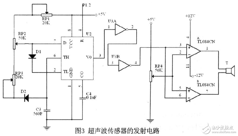 AT89S52单片机超声波测距系统电路设计