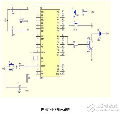 电路图天天读(19):局域网中红外遥控发射与接收电路设计