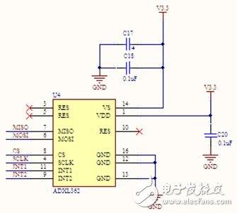 基于ADXL362的運動監測MEMS加速度計電路模塊設計