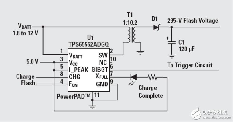 采用TPS65552A的驱动便携式相机闪光灯电路设计