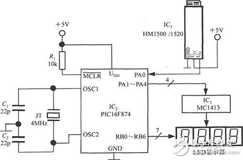 基于PIC单片机的智能湿度测量仪电路