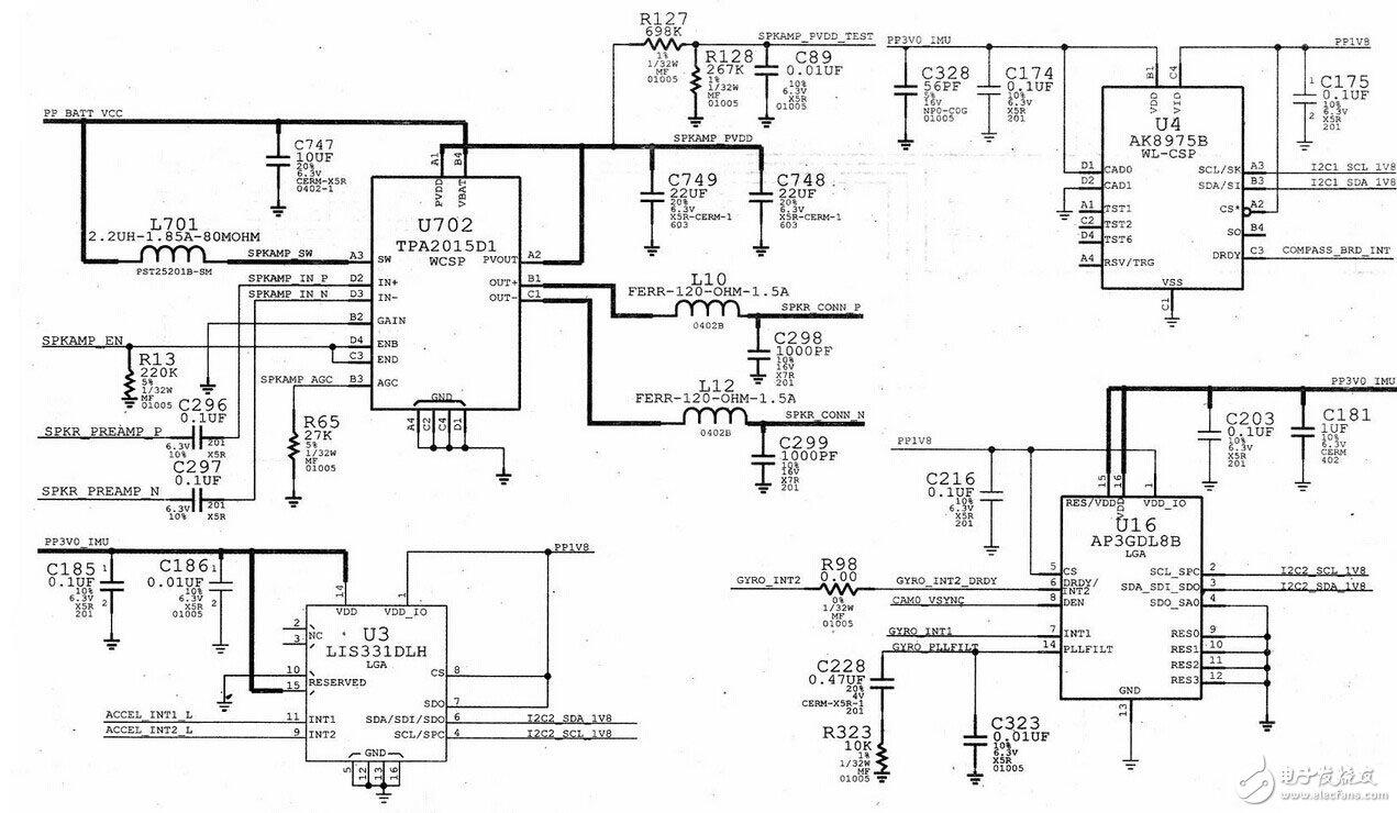 苹果iPhone 4S内置电路模块设计