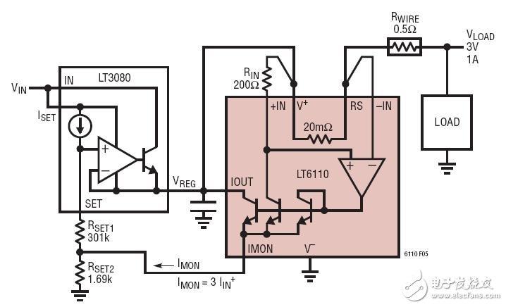 采用电流基准的LDO线损补偿电路图