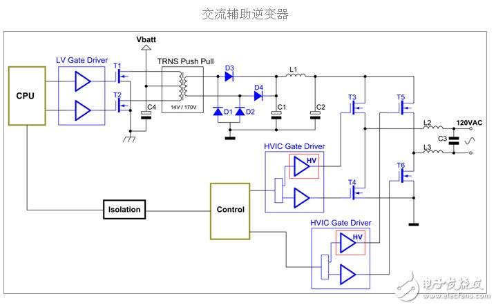 一款功率逆变器电路图