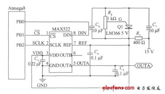 模数转换及稳压电路图