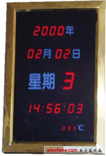 LED显示电脑电子钟电路原理图