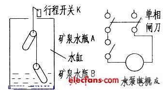 自制抽水机自动断电电路图