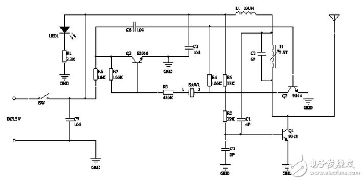 蓝牙无线门铃发射电路模块设计