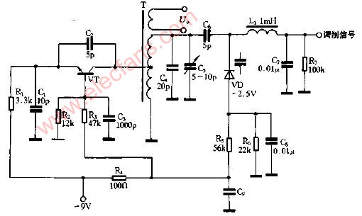 变容二极管调频应用电路图