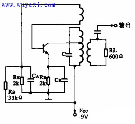 455kHz载波振荡电路图