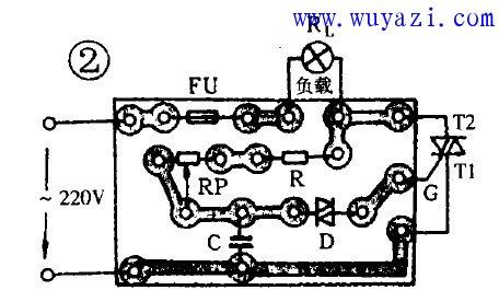 简易可控硅调压调温电路图