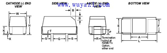 KEMET T491系列贴片钽电容规格书