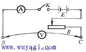 用电阻定律定量演示导体的电阻与材料、长度和横截面积关系
