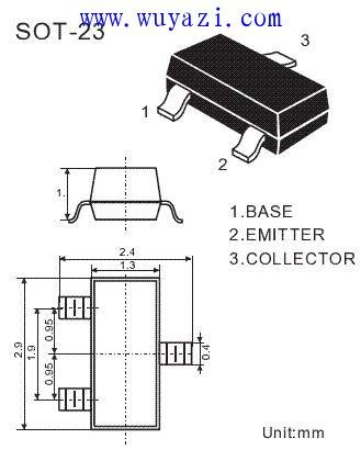 常用贴片三极管封装资料和尺寸图