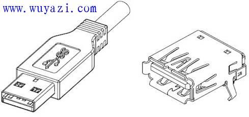 USB3.0连接器引脚、接口定义及封装尺寸