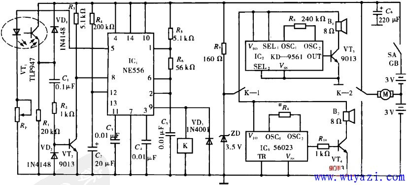 电动车玩具原理电路图图片