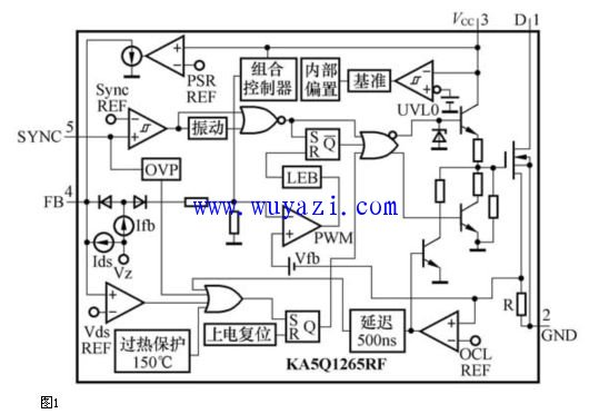 ka5q1265rf开关电源原理图与检修技巧