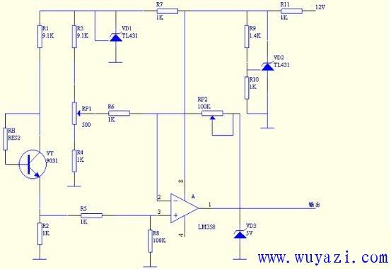 感知系统传感电路图