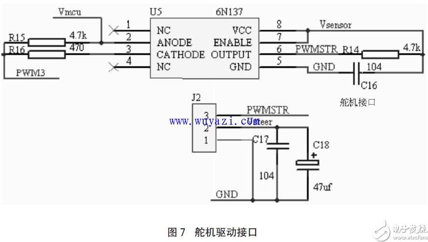 智能汽车控制系统电路图