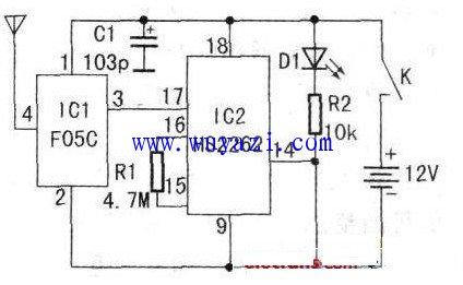 控电门锁设计的电路图