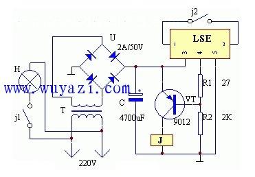 闪烁电灯制作电路图