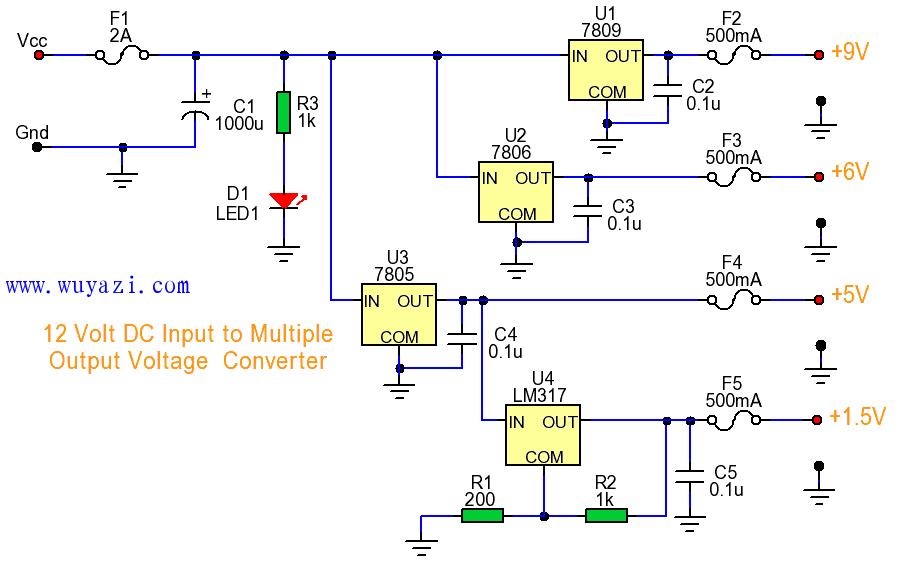 直流输出的DC转换器电路图片