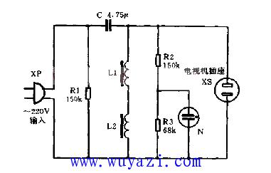 简易高效交流稳压电源电路图片