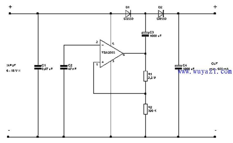 12伏至21伏DC - DC转换器电路