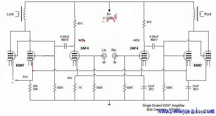 6SN7 PSE 2AF4胆机电路