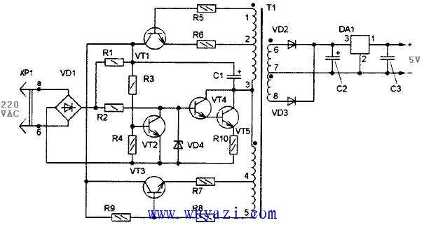 5-12V小尺寸电源电路图