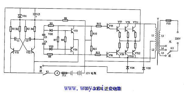直流电逆变成交流电的电路 -直流电图片