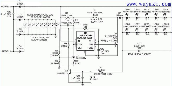 led灯驱动器电路原理图