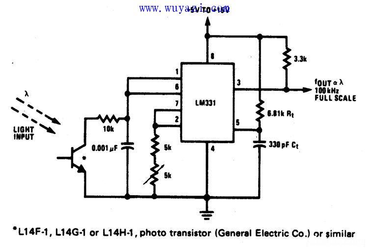 光强度-频率转换器电路图