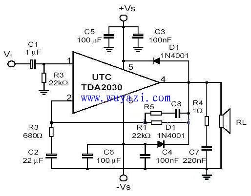 tda2030音频功放电路图图片