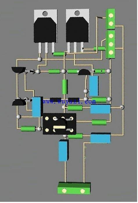 055简洁优质大功率放大器,850功放原理图