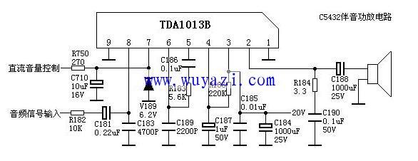 TDA1013B简易功放电路图