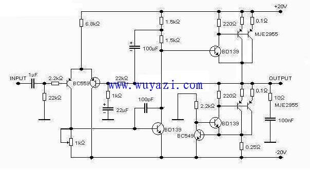 0W晶体管单端甲类功放设计与制作电路图